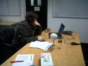 Emily recording the Radix copycast